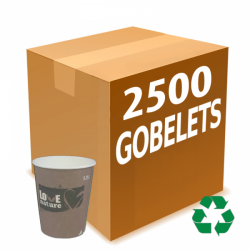 2500 gobelets carton...