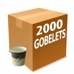 2000 gobelets carton 10 cl...